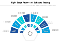 Eight Steps Process Of Software Testing Ppt PowerPoint Presentation Infographics Example PDF