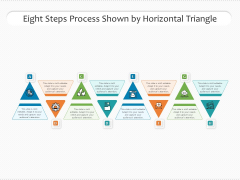 Eight Steps Process Shown By Horizontal Triangle Ppt PowerPoint Presentation File Clipart PDF