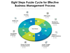 Eight Steps Puzzle Cycle For Effective Business Management Process Ppt PowerPoint Presentation Model Shapes PDF
