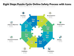 Eight Steps Puzzle Cycle Online Safety Process With Icons Ppt PowerPoint Presentation Portfolio Clipart PDF