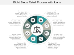 Eight Steps Retail Process With Icons Ppt Powerpoint Presentation File Master Slide