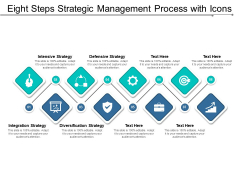 Eight Steps Strategic Management Process With Icons Ppt Powerpoint Presentation Layouts Clipart Images