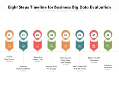 Eight Steps Timeline For Business Big Data Evaluation Ppt PowerPoint Presentation Gallery Inspiration PDF