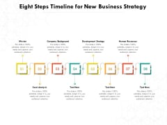 Eight Steps Timeline For New Business Strategy Ppt PowerPoint Presentation File Pictures PDF