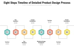 Eight Steps Timeline Of Detailed Product Design Process Ppt PowerPoint Presentation File Icons PDF