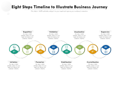 Eight Steps Timeline To Illustrate Business Journey Ppt PowerPoint Presentation Gallery Clipart Images PDF