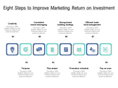 Eight Steps To Imeight Steps To Improve Marketing Return On Investment Ppt PowerPoint Presentation Inspiration Outline