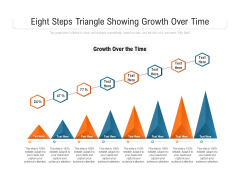 Eight Steps Triangle Showing Growth Over Time Ppt PowerPoint Presentation File Sample PDF