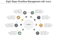 Eight Steps Workflow Management With Icons Ppt PowerPoint Presentation Outline Deck