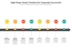 Eight Steps Yearly Timeline For Corporate Successful Ppt PowerPoint Presentation Icon Deck PDF