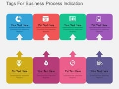 Eight Tags For Business Process Indication Powerpoint Template