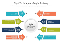 Eight Techniques Of Agile Delivery Ppt PowerPoint Presentation Pictures Mockup PDF
