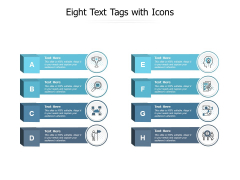 Eight Text Tags With Icons Ppt PowerPoint Presentation Icon Deck