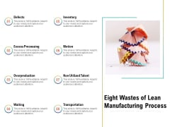 Eight Wastes Of Lean Manufacturing Process Ppt PowerPoint Presentation Model Slides PDF