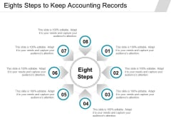 Eights Steps To Keep Accounting Records Ppt PowerPoint Presentation Pictures Themes