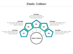 Elastic Collision Ppt PowerPoint Presentation Infographic Template Background Cpb Pdf