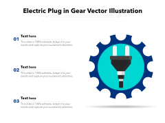 Electric Plug In Gear Vector Illustration Ppt PowerPoint Presentation Summary Graphics Template PDF