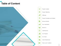 Electrical Engineering Services Table Of Content Ppt Layouts Infographic Template PDF