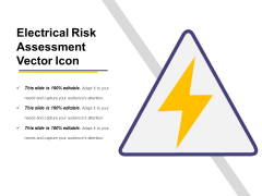 Electrical Risk Assessment Vector Icon Ppt PowerPoint Presentation File Example PDF