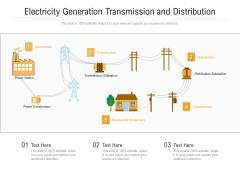 Electricity Generation Transmission And Distribution Ppt PowerPoint Presentation Inspiration Design Inspiration PDF