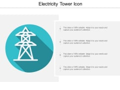 Electricity Tower Icon Ppt PowerPoint Presentation Icon Template