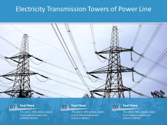 Electricity Transmission Towers Of Power Line Ppt PowerPoint Presentation Inspiration Sample PDF