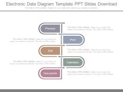 Electronic Data Diagram Template Ppt Slides Download