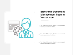 Electronic Document Management System Vector Icon Ppt PowerPoint Presentation Professional Graphics Example