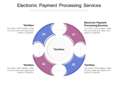 Electronic Payment Processing Services Ppt PowerPoint Presentation File Ideas Cpb