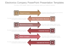 Electronics Company Powerpoint Presentation Templates