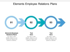 Elements Employee Relations Plans Ppt PowerPoint Presentation Styles Brochure Cpb