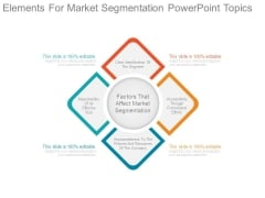Elements For Market Segmentation Powerpoint Topics