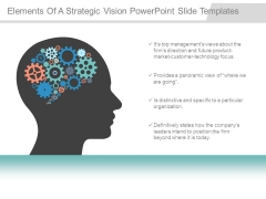 Elements Of A Strategic Vision Powerpoint Slide Templates