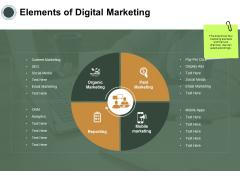 Elements Of Digital Marketing Ppt PowerPoint Presentation Slides Templates