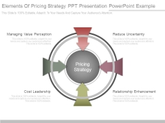 Elements Of Pricing Strategy Ppt Presentation Powerpoint Example