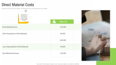 Elements Of Production Cost Direct Material Costs Slides PDF