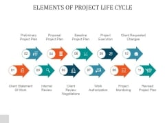 Elements Of Project Life Cycle Ppt PowerPoint Presentation Information