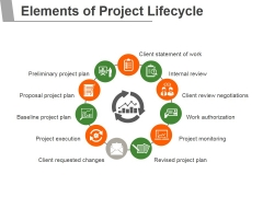 Elements Of Project Lifecycle Ppt PowerPoint Presentation Infographic Template