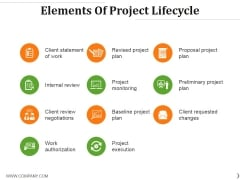 Elements Of Project Lifecycle Ppt PowerPoint Presentation Portfolio Format