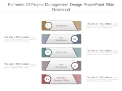 Elements Of Project Management Design Powerpoint Slide Download