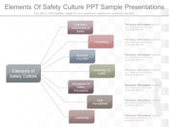 Elements Of Safety Culture Ppt Sample Presentations