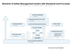 Elements Of Safety Management System With Standards And Processes Ppt PowerPoint Presentation File Picture PDF
