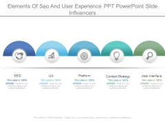 Elements Of Seo And User Experience Ppt Powerpoint Slide Influencers
