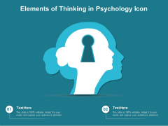 Elements Of Thinking In Psychology Icon Ppt PowerPoint Presentation Gallery Design Inspiration PDF