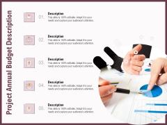 Elements Project Annual Budget Description Ppt Visual Aids Example File PDF