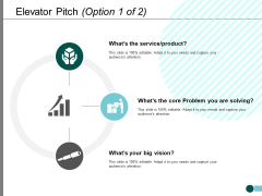 Elevator Pitch Business Ppt PowerPoint Presentation Infographic Template Professional