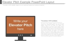 Elevator Pitch Example Powerpoint Layout