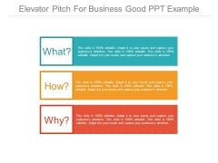 Elevator Pitch For Business Good Ppt Example