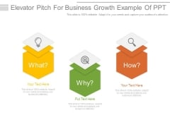 Elevator Pitch For Business Growth Example Of Ppt