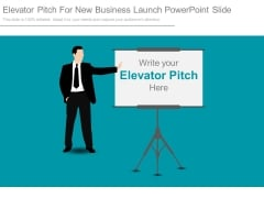 Elevator Pitch For New Business Launch Powerpoint Slide